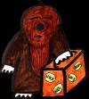 Der Maulwurf mit gepacktem Koffer